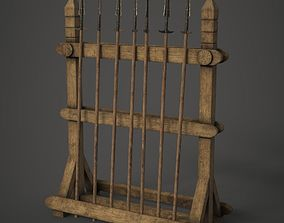 3D model realtime Spear Rack