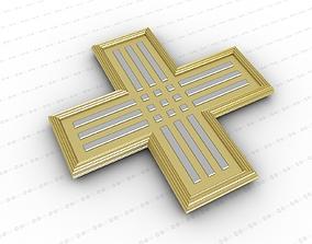 Cross 3D architectural decoration
