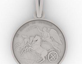 3D printable model Chariot Athena Medallion pendant