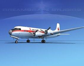 3D Douglas DC-6 American Airlines