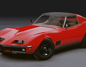 3D asset Realistic Mobile Car 11 Chevrolet Corvette C3