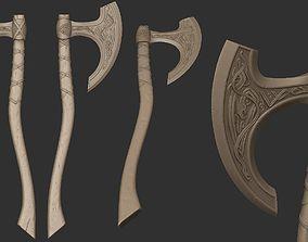 Highpoly sculpted Celtic Axe01 3D viking