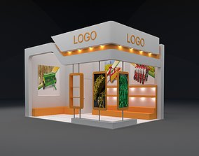 3D exhibition stand 6x4m height 360 cm 2 side
