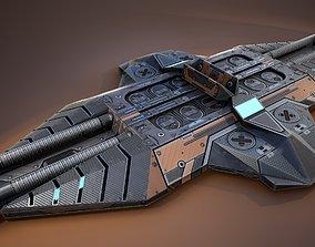 3D model sci-fi Cyberpunk device - Game Ready - PBR