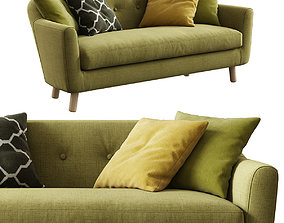 3D model Made Lottie 3 Seater Sofa