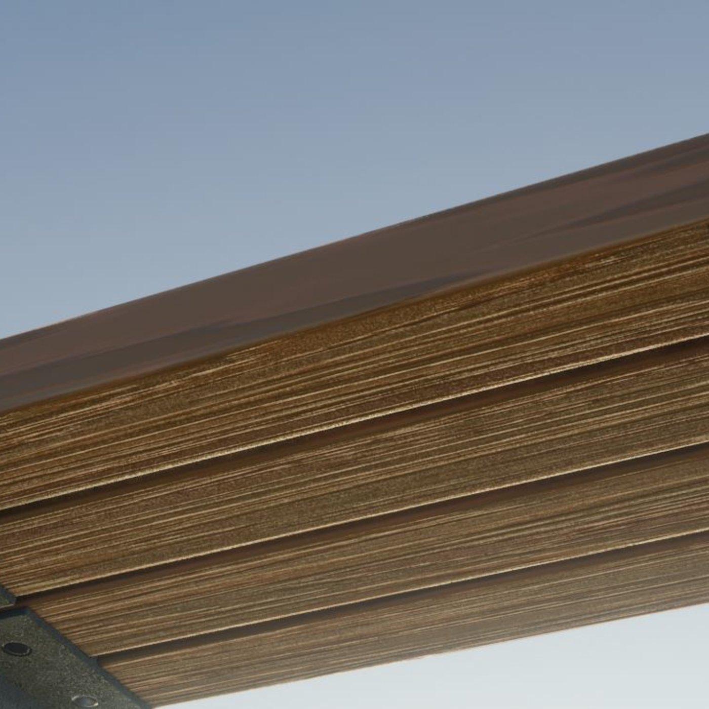 Park Bench 8 Oak Metal Frame 3