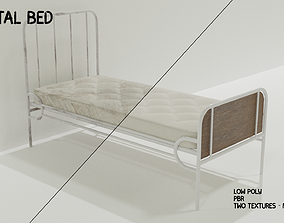 3D model Hospital Bed - Low-poly PBR