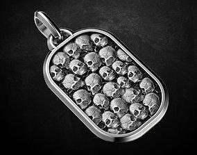 3D printable model jewellery Pendant of the skull 117