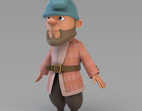3D model Cartoon Gnome 02