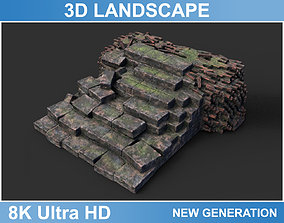 3D model Low poly Ruin Medieval Construction 10 2020