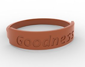 Goodness Female Finger Ring Blazing Copper 3D print model