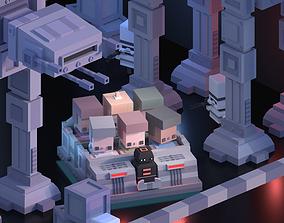 Star Wars Ride Lowpoly 3D asset
