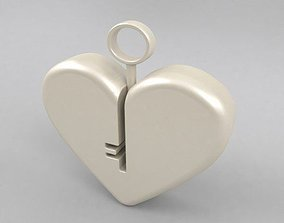 3D print model Heart lock design