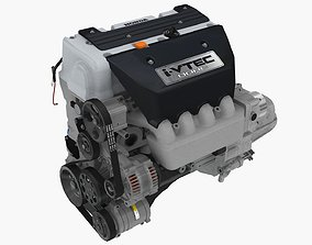 3D asset Honda Civic Si K20Z3 engine