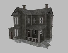 Old House Low-Poly 3D Model low-poly