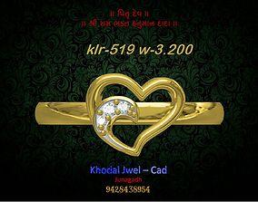 ladies ring 3D asset low-poly goldring various-models