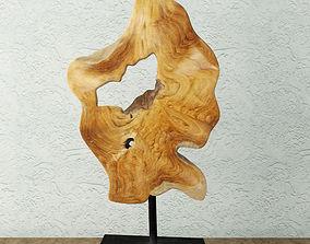 ornament Teak Wood Table Top Decoration 3D