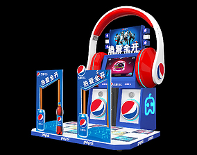Pepsi-themed dance machine packaging loves to open 3D