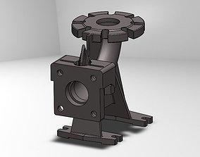 3D model Pump TP 65E elbow fitting