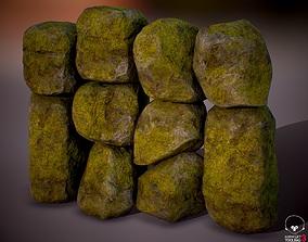 Boulder Rock Set 4K 3D model