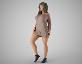 Winter Beauty Woman 3D print model