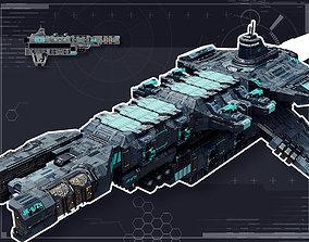 3D model Galactic Battlecruiser