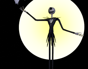 3D rigged Jack and Zero-The Nightmare Before Christmas