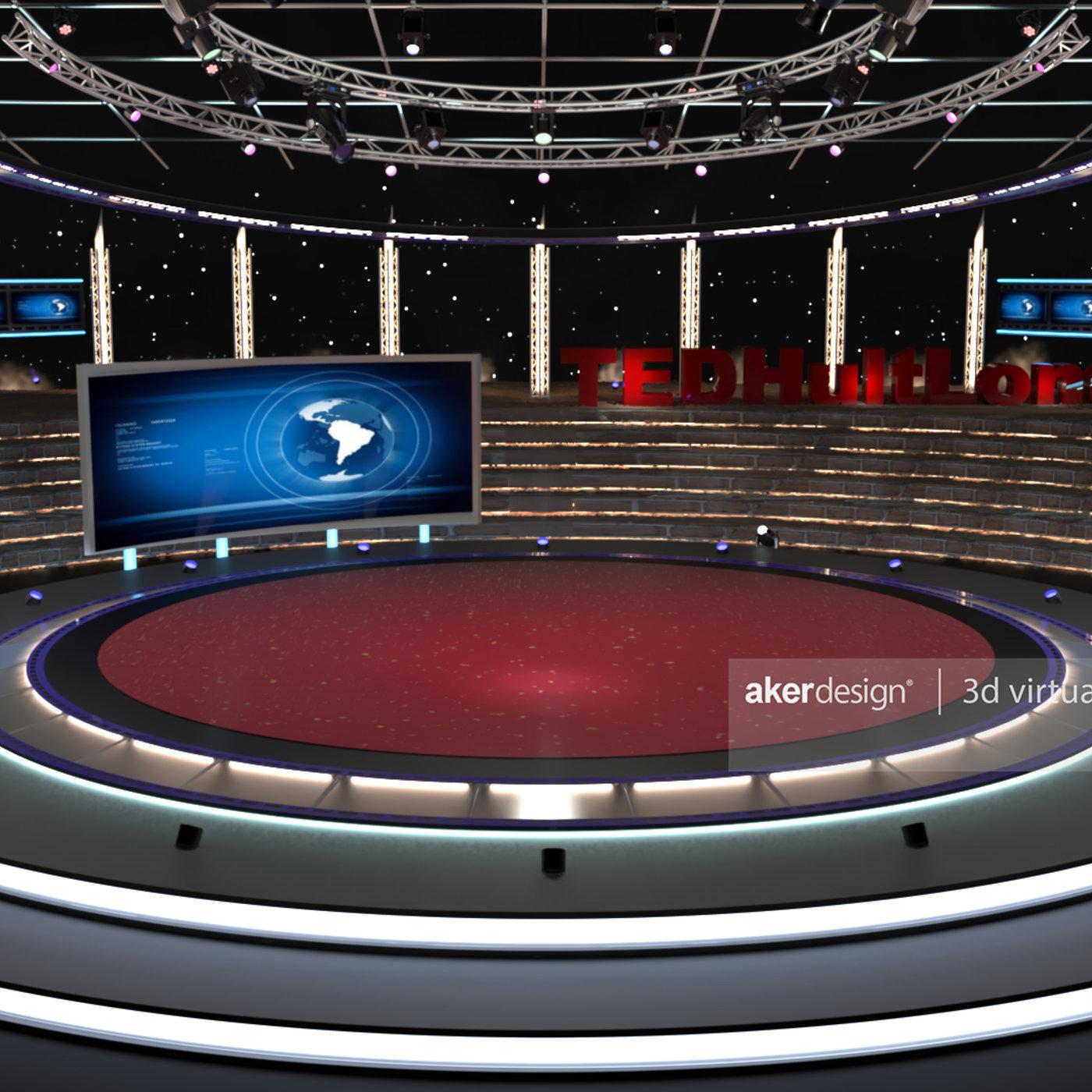Virtual Conference Set - 3d Models