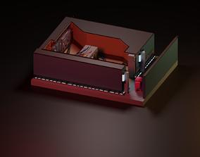 Among Us Electrical Room Diorama 3D asset