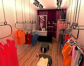 bar-stool Clothing Store 3d model