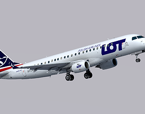 3D asset Embraer E190 LOT Polish Airlines