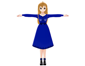 3D asset ASIAN GIRL CHARACTER GIRL ANGRY EMOTION T-POSE 1