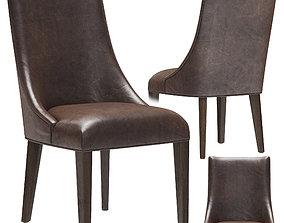 3D Restoration Hardware Ella Leather Side Chair