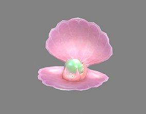 3D asset Cartoon Pearl - Pink Shell - Clam