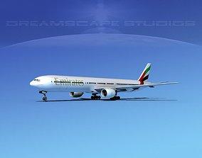 3D Boeing 777-300 Emirates