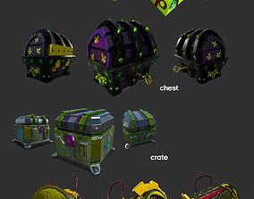 Loot Boxes bundle 3D model