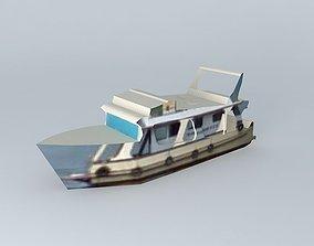 3D Boat not coast of Santos.