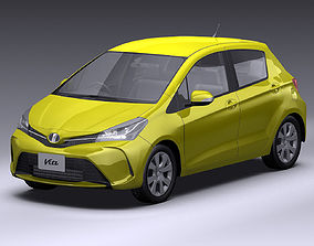 2014 Toyota Vitz 3D model