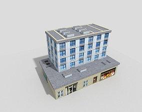 3D asset VR / AR ready block Office Building