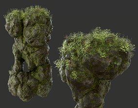 3D model island HD Floating Mossy Rock 04 191205