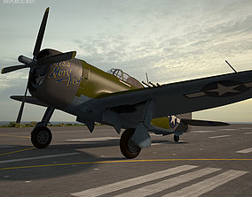 aviation 3D Republic P-47 Thunderbolt