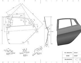 3D print model Car door panel