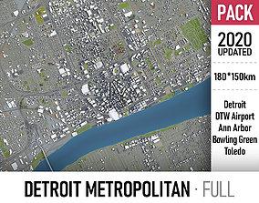 Detroit - Ann Arbor - Bowling Green - Toledo 3D