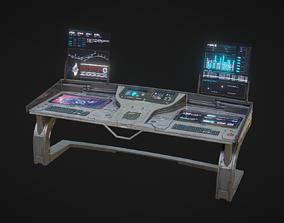 Sci Fi Lab Control Panel 3D model