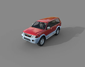 3D model Low Poly Car - Mitsubishi Pajero Sport 1996