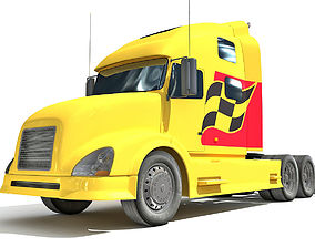 3D Yellow Front Truck 7