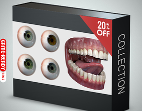 3D model Eyeball and Teeth Collection