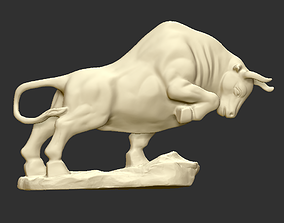 Bull Sculpture animal 3D print model
