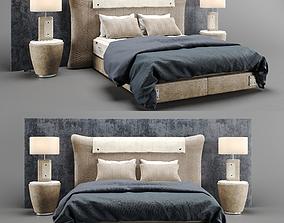 3D model Colunex Chevron Luxury Bed