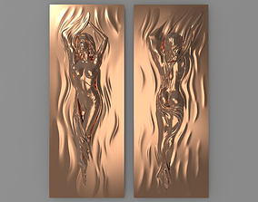 3D printable model Beautiful girl Bas relief